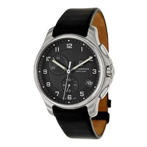 当店1年保証 ビクトリノックスVictorinox Swiss Army Black Dial SS Leather Chrono quartz Men's Watch 241552|planetdream
