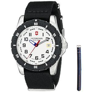 当店1年保証 ビクトリノックスVictorinox Men's 241676.1 Analog Display Swiss Quartz Black Watch|planetdream