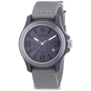 当店1年保証 ビクトリノックスVictorinox Swiss Army Men's 241515 Original Grey Dial and Strap Watch Watch|planetdream