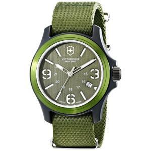 当店1年保証 ビクトリノックスVictorinox Unisex 241514 Original Resin Watch With Green Nylon Band|planetdream