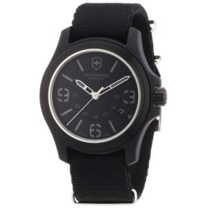 当店1年保証 ビクトリノックスVictorinox Swiss Army Men's 241517 Original Black Dial and Strap Watch Watch|planetdream