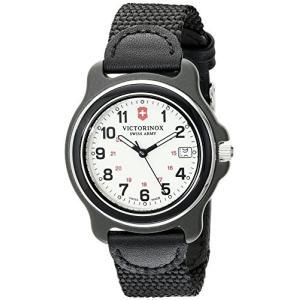 当店1年保証 ビクトリノックスVictorinox Men's 249089 Original Black Watch with Nylon Band|planetdream