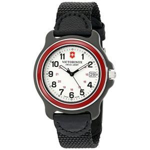 当店1年保証 ビクトリノックスVictorinox Men's 249088 Original Analog Display Swiss Quartz Black Watch|planetdream