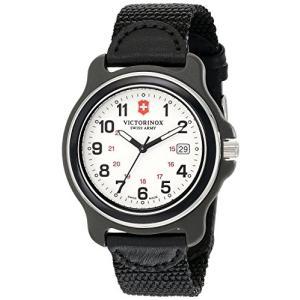 当店1年保証 ビクトリノックスVictorinox Men's 249086 Original XL Analog Display Swiss Quartz Black Watch|planetdream
