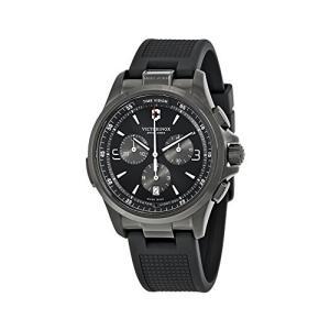 当店1年保証 ビクトリノックスVictorinox Men's Night Vision Titanium Swiss-Quartz Watch with Rubber Strap, Black, 21 planetdream