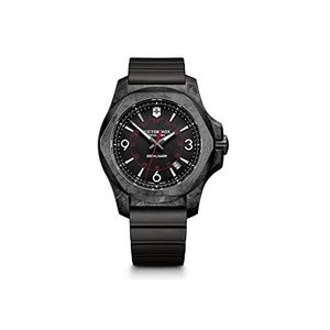 当店1年保証 ビクトリノックスVictorinox Swiss Army Men's I.N.O.X. Titanium Swiss-Quartz Watch with Rubber Strap, Bla|planetdream