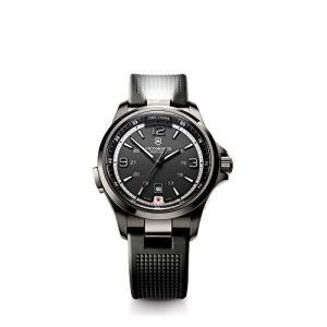 当店1年保証 ビクトリノックスVictorinox Men's 241596 Night Vision Black Stainless Steel Watch|planetdream