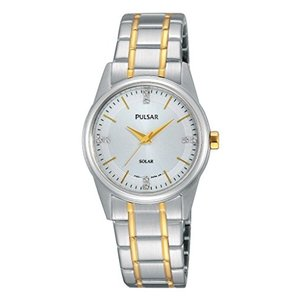 当店1年保証 パルサーPulsar Women's PY5003 Solar Dress Analog Display Japanese Quartz Two Tone Watch|planetdream