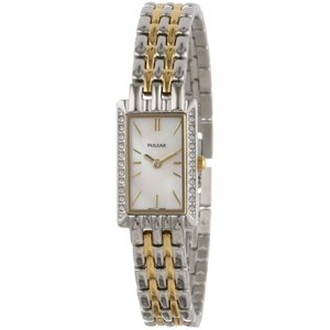 当店1年保証 パルサーPulsar Women's PEGE77 Crystal Jewelry Watch|planetdream