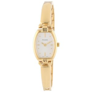 当店1年保証 パルサーPulsar Women's PEGA68 Gold-Tone Stainless Steel Bangle Watch|planetdream