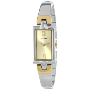 当店1年保証 パルサーPulsar Women's PEGG13 Analog Display Japanese Quartz Two Tone Watch|planetdream