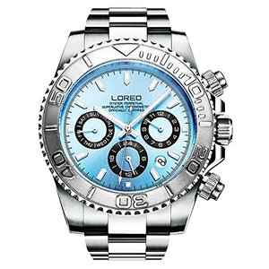 当店1年保証 ロレオLOREO Mens Automatic Machine Multifunction Stainless Steel Sapphire Glass luminous Waterproof Watches|planetdream