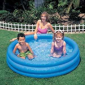 プールIntex Crystal Blue Inflatable Pool, 45 x 10