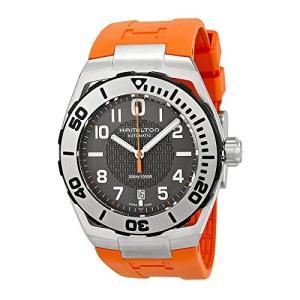 当店1年保証 ハミルトンHamilton Khaki Navy Black Dial Silicone Strap Men's Watch H78615985|planetdream