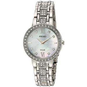 当店1年保証 セイコーSeiko Women's Ladies Crystal Dress Japanese-Quartz Watch with Stainless-Steel Strap, Silver, 14 (Mo planetdream