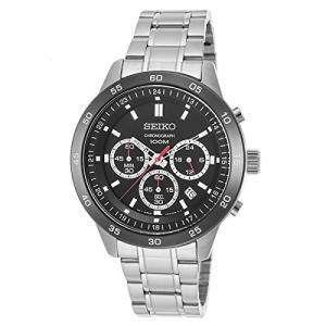 当店1年保証 セイコーSeiko SKS527P1 Men's Neo Sport Chronograph Black Dial Stainless Steel Bracelet Watch planetdream