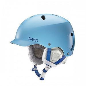 ウォーターヘルメットBern - Womens Lenox Snow Helmet 2016, Satin Light Blue, XS-S planetdream