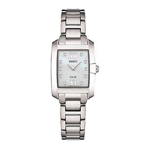当店1年保証 セイコーSeiko Women's Diamond Solar Japanese-Quartz Watch with Stainless-Steel Strap, Silver, 8 (Model: SUP|planetdream
