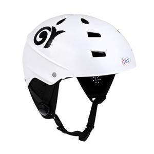 ウォーターヘルメットMonkeyJack CE Approved White XL 63-65cm Safety Helmet with Air Vents for Water Sport Canoeing Kayaki planetdream
