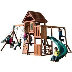海外正規品Swing-N-Slide Cedar Brook Play Set with Two Swings, Slide, Monkey Bars, Picnic Table and Glider