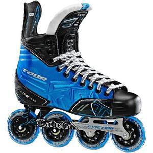 インラインスケートTour Hockey Adult FB-9 Pro Inline Hockey Skates Blue/Black Size: 11 Blue/Black|planetdream