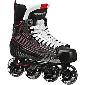 インラインスケートTour Hockey Code 7 Senior Inline Hockey Skate, Black, 10|planetdream