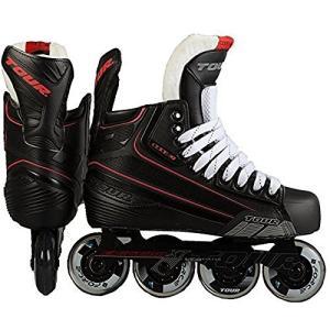インラインスケートTour Hockey Code 7 Senior Inline Hockey Skate, Black, 12|planetdream