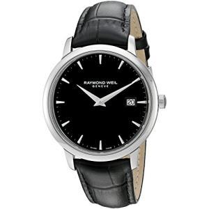 当店1年保証 レイモンドウィルRaymond Weil Men's 'Toccata' Swiss Quartz Stainless Steel and Leather Watch, Color:Blac|planetdream