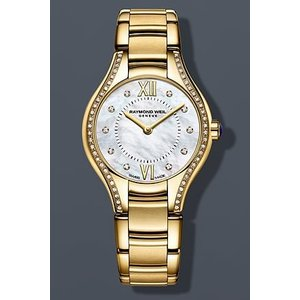当店1年保証 レイモンドウィルRaymond Weil Noemia Mother of Pearl Diamond Yellow Gold PVD Steel Ladies Watch 5124-PS-|planetdream