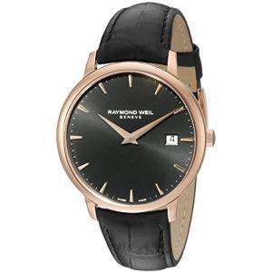 当店1年保証 レイモンドウィルRaymond Weil Men's 5488-PC5-20001 Analog Display Quartz Black Watch|planetdream