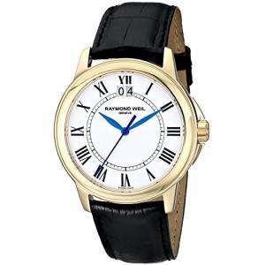 当店1年保証 レイモンドウィルRaymond Weil Men's 5476-P-00300 Tradition Analog Display Swiss Quartz Black Watch|planetdream
