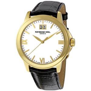 当店1年保証 レイモンドウィルRaymond Weil Men's 5476-P-00307 Tradition White Dial Watch|planetdream