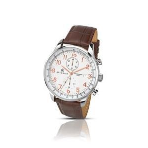 当店1年保証 アキュリストAccurist Men's Quartz Watch White Dial Chronograph Brown Leather Strap 7121|planetdream