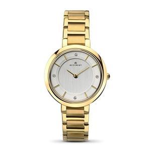 当店1年保証 アキュリストAccurist Ladies Analogue Watch With Silver Dial And Gold Bracelet 8151|planetdream