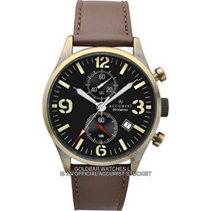 当店1年保証 アキュリストAccurist Mens Brown Leather Strap Chronograph Watch with Date Display 7023|planetdream