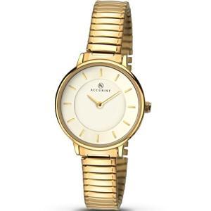 当店1年保証 アキュリストLadies Accurist White Dial Gold Expander Watch 8140|planetdream