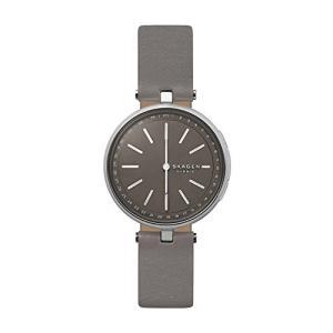 当店1年保証 スカーゲンSkagen Connected Women's Signatur T-Bar Stainless Steel and Leather Hybrid Smartwatch, Color: Si|planetdream