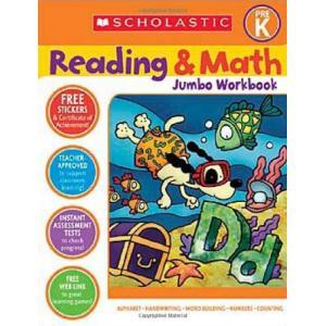 海外製絵本Scholastic Pre-K Reading & Math Jumbo Workbook|planetdream