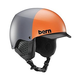 スノーボードBern Baker Snow Helmet (Matte Grey Hatstyle with Black Liner, Small)|planetdream