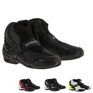 アルパインスターズAlpinestars SMX-1R Vented Men's Street Motorcycle Boots - Black/White/Yellow / 45|planetdream