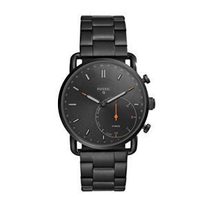 当店1年保証 フォッシルFossil Hybrid Smartwatch - Q Commuter Black Stainless Steel FTW1148|planetdream