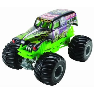 ホットウィールHot Wheels Monster Jam Grave Digger Die-Cast Vehicle, 1:24 Scale, Black and Green|planetdream