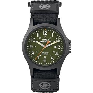 当店1年保証 タイメックスTimex Expedition Acadia Watch - Black/Green w/Fast-Wrap Strap planetdream