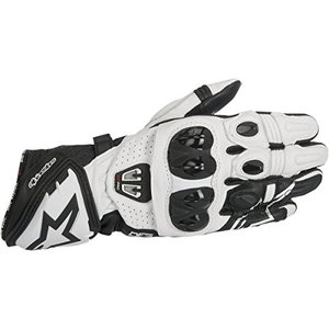 アルパインスターズAlpinestars 355671712M GP Pro R2 Leather Gloves (Black/White, Medium)|planetdream