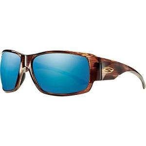 スミスSmith Optics Dockside Lifestyle Polarized Sunglasses, Havana/Chromapop Blue Mirror|planetdream