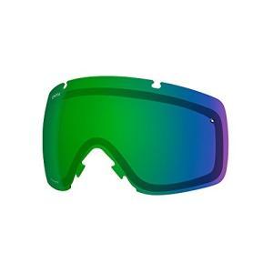 スミスSmith Optics I/O Adult Replacement Lens Snow Goggles Accessories - Chromapop Everyday Green Mirror/One Size|planetdream