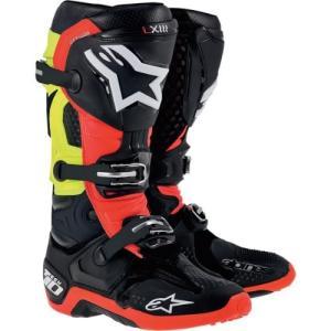 アルパインスターズAlpinestars Tech 10 Boots , Primary Color: Black, Size: 8, Distinct Name: Black/Red/Yellow, Gender: Men|planetdream