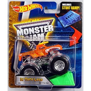 ホットウィールHot Wheels Monster Jam 1:64 Scale - El Toro Loco with Stunt Ramp #04|planetdream