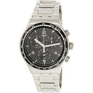 当店1年保証 スウォッチSwatch Irony Night Flight Quartz Black Dial Stainless Steel Men's Watch YVS444G|planetdream