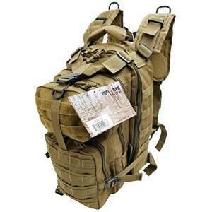 ミリタリーバックパックExplorer Tactical 72 Hours Combat Rucksack 17 Inch Backpack-Brown|planetdream